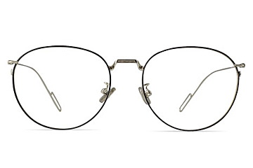 Kable Trendy Round Silver Thinwire Glasses for Men or Women from Framesfoundry - Front View