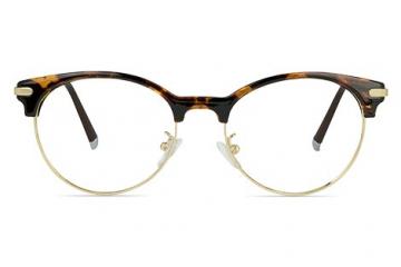 Alex Retro Round Mixed Material Glasses