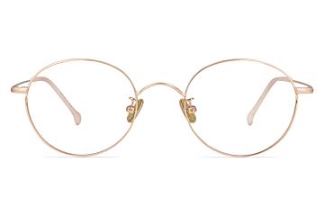 Simone Rose Gold Round Glasses
