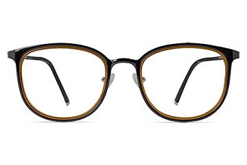Aspen Dark Brown Glasses with Caramel Crystal Lining