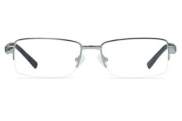 Mazzimo Occhiali Gunmetal MA1091 Half-Rim Glasses